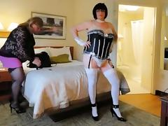 Crossdressers amber and kitt first web cam show