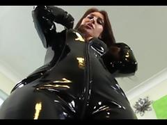Jess West PVC Pervert PVC Catsuit. tube porn video
