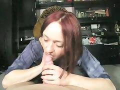 Buxom housewife slowly but steadily jerks off a big shaft P