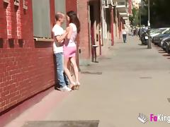 Natalia fingers watching a pornstar bang her husband