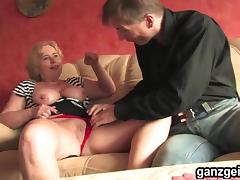 GanzGeil.com Horny mature German woman fucking porn tube video