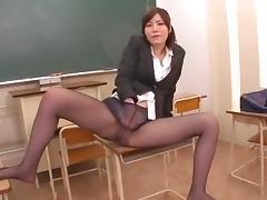 Exotic Japanese slut Nanako Mori in Amazing Masturbation, Cougar JAV scene
