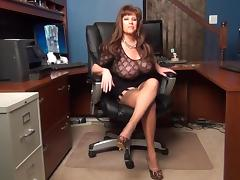 Boss, Amateur, Boss, Lingerie, Office, Stockings