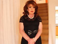 Short black lace dress porn tube video