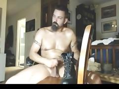 Cock abuse with heavy boot porn tube video