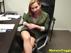 Busty stepmilf jerking pov cock porn tube video