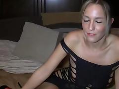 Blonde babe in high heels birthday handjob and pov fuck tube porn video