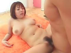 Crazy Japanese chick Kaede Himitsu in Amazing Cunnilingus, Hairy JAV movie