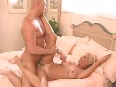 Crazy pornstar in horny brunette, blonde adult movie