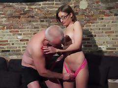 Beauty, Beauty, Blowjob, Couple, Cute, Glasses