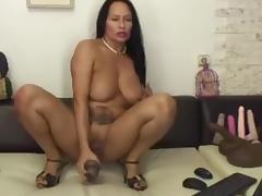 Latina, Dildo, Huge, Latina, Mature, Old