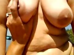 with my busty wife at the lake porn tube video