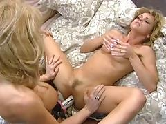 Horny pornstars Nina Hartley and Shayla LaVeaux in best blowjob, vintage porn clip tube porn video