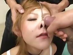 Cumming on an Asian's Pig Nose porn tube video