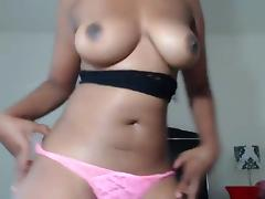 Super Sexy Ebony Webcam Stripper with Crazy Body