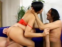Latina, Anal, Brunette, Double, Facial, Latina