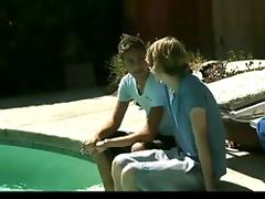 Kiss By The Pool porn tube video