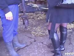 German Milf Inspector picks on the farmer tube porn video
