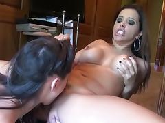Crazy pornstars Francesca Le and Georgia Jones in hottest brunette, cunnilingus porn movie porn tube video
