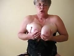 Horny Amateur movie with Big Tits, Solo scenes