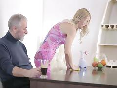 The young housekeeper and the old boss porn tube video