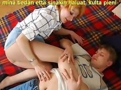 Slideshow with Finnish Captions: Mom Christina 2 tube porn video