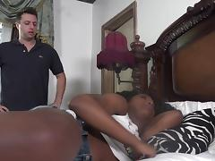 Vivacious ebony bomb Daya Knight having her cooch boned by Mark Zane porn tube video