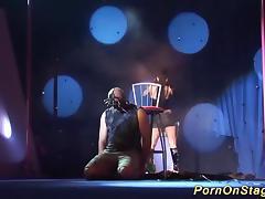 extreme needle fetish on public stage tube porn video
