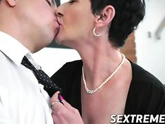 Lucky, Drilled, Granny, Horny, Lucky, Mature