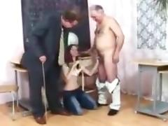 Pigtailed college girl takes her punishment !