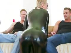 Anal and dp for a shorthaired latex lady porn tube video