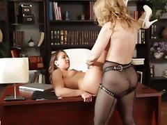 She see a strapon and want try it. porn tube video
