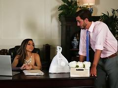 Nina North cannot resist seducing her co-worker for a nasty sex game