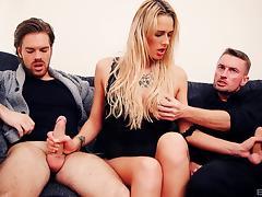 Fake Tits, Handjob, Hardcore, MMF, Threesome, Fake Tits