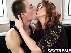 Mom and Boy, Drilled, Granny, Hardcore, Horny, Mature