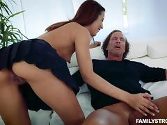 Daddy, Babe, Blowjob, Brunette, Fucking, Uncle