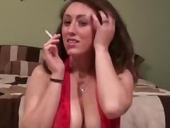 Brunette, Brunette, Sex, Smoking, Tease, Cigarette