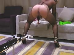 TRANSVESTITE GOES CRAZY SEX MACHINE - sissymartina tube porn video
