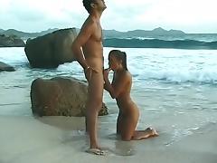 Beach, Anal, Beach, Brunette, Exotic, Facial