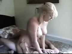 BIG BOOBS BLONDE MOM LIKES HARDCORE porn tube video