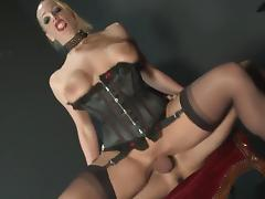 Fishnet, Big Tits, Blonde, Facial, Fishnet, HD