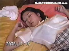 Japanese schoolgirl gets her hairy snatch stuffed with cock