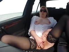 I was wanking in car porn tube video