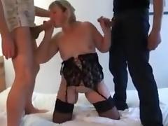 Grosse mature prise en double devant son mari tube porn video