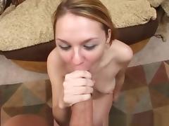 Horny pornstar Ginger Taylor in crazy blonde, blowjob adult clip