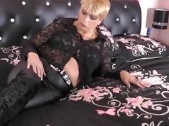 Big Tits, Big Tits, Blonde, Lingerie, Masturbation, Mature