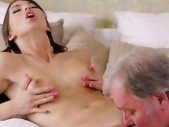 Hot young playgirl gangbanged by old guy tube porn video