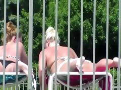Crazy Amateur video with Panties and Bikini, Outdoor scenes