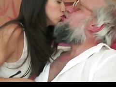 Brunette angel for old man tube porn video