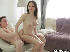 Horny Russian Couple Fucking on the Chair